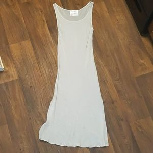 MaxMara sheer gray viscose tank dress size 8